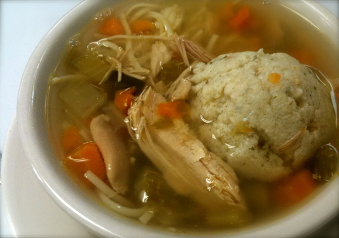 Matzo Ball Soup with Chicken Noodle