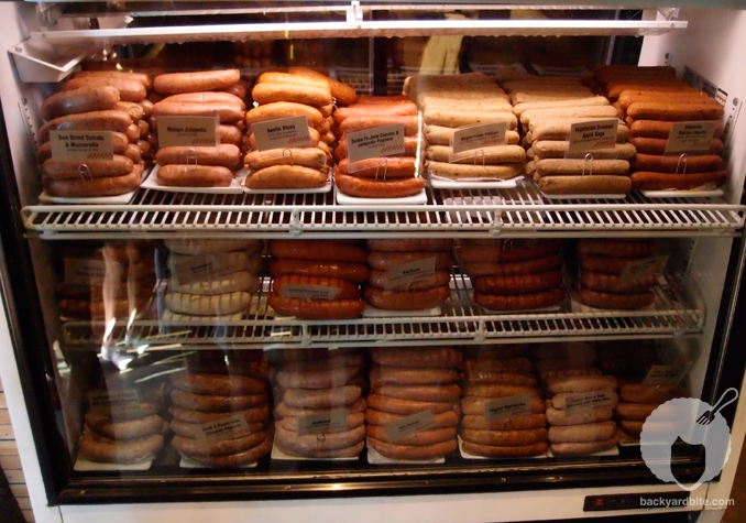 Display of Sausages at Wurstkuche-BYB