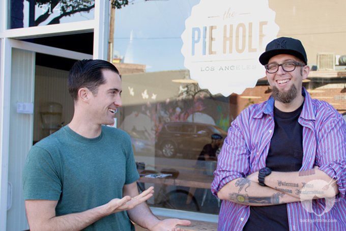 Owners Sean Brennan and Matthew Heffner @ The Pie Hole Los Angeles