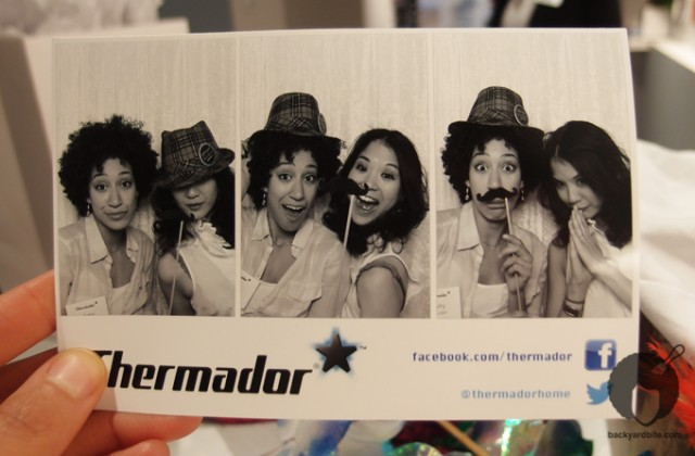 Fun in the photo booth with Lynn Chen!
