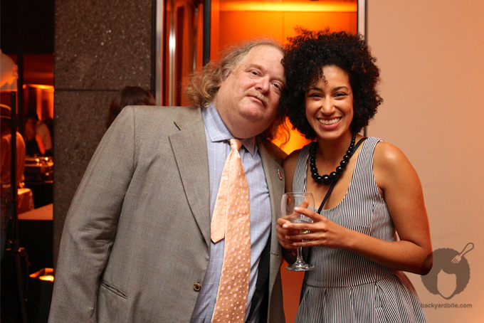 THE Jonathan Gold snuggles up to the 'fro at Bite Nite.